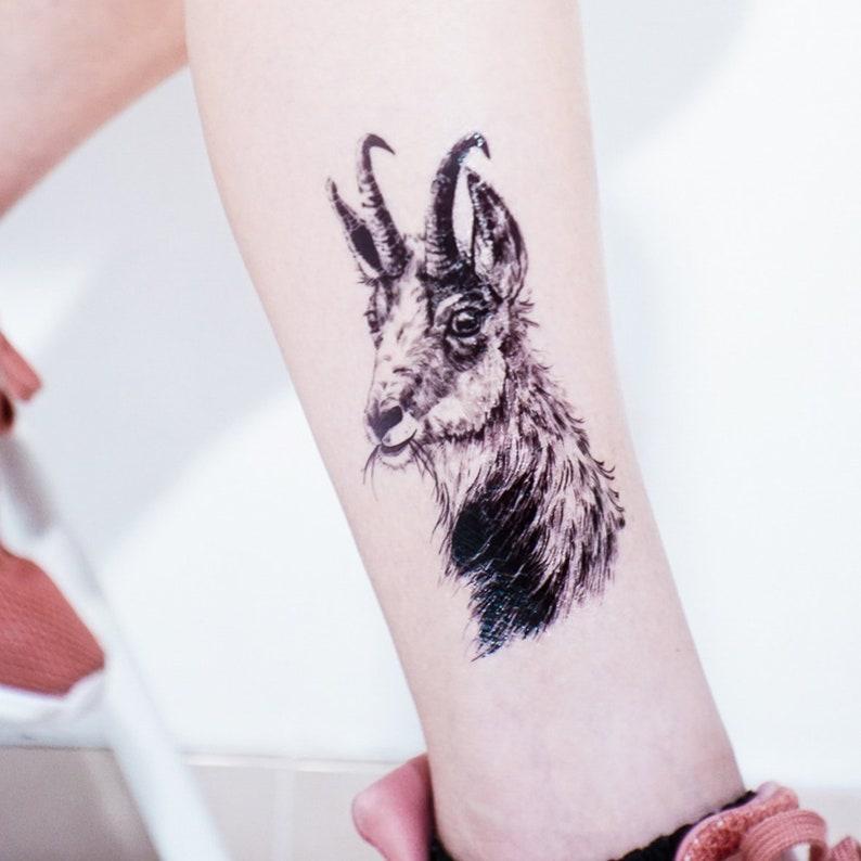 872f02f4f5568 Black Goat tattoos Animal tattoo Stickers Long Lasting | Etsy