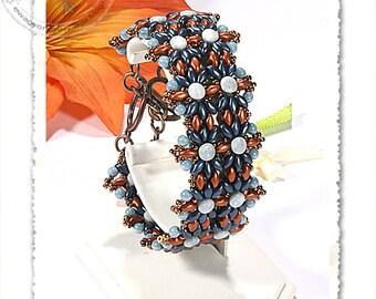 Zelina beaded bracelet PDF pattern