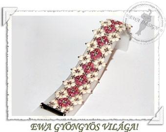 Raya beaded bracelet PDF pattern