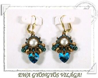 Lorell beaded earrings PDF pattern