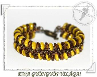 Pamora beaded bracelet PDF pattern