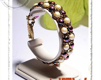 Ellona beaded bracelet PDF pattern