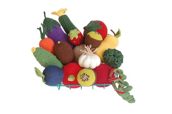 Spielen Essen 16st Häkeln Crochet Gemüse Häkeln Früchte Etsy