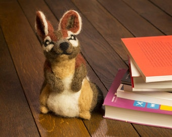 Numbat, Australian Animal, Needle Felted Soft Sculpture
