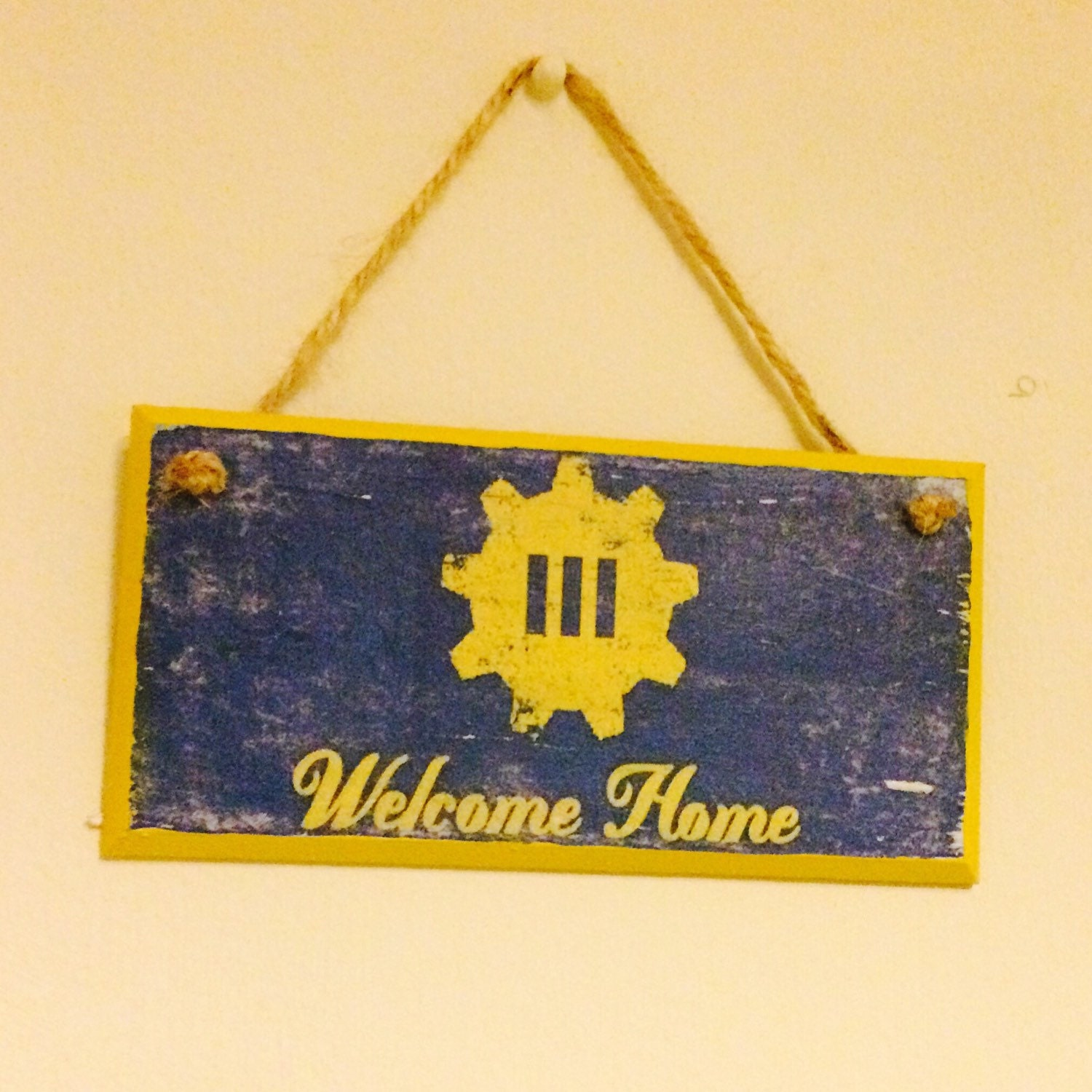 Welcome Home Fallout 4 inspired wall plaque door sign