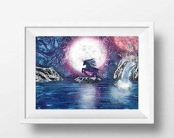 Limited Edition Unicorn Original Art Print