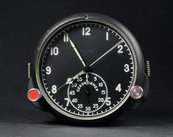 11831659b38 Arctic USSR AirForce Cockpit Clock 123CS 123ChS for Russian MiG Su jet  Military Air Force Aircraft Chronograph Clock 70s-made Russain Clock