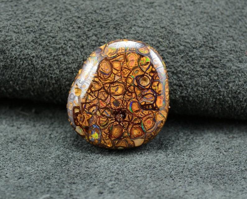 Spectacular Color-Filled Veins Natural Yowah Opal Gem Matrix Opal Australian Opal Polished Opal Boulder Opal Natural Opal Stone