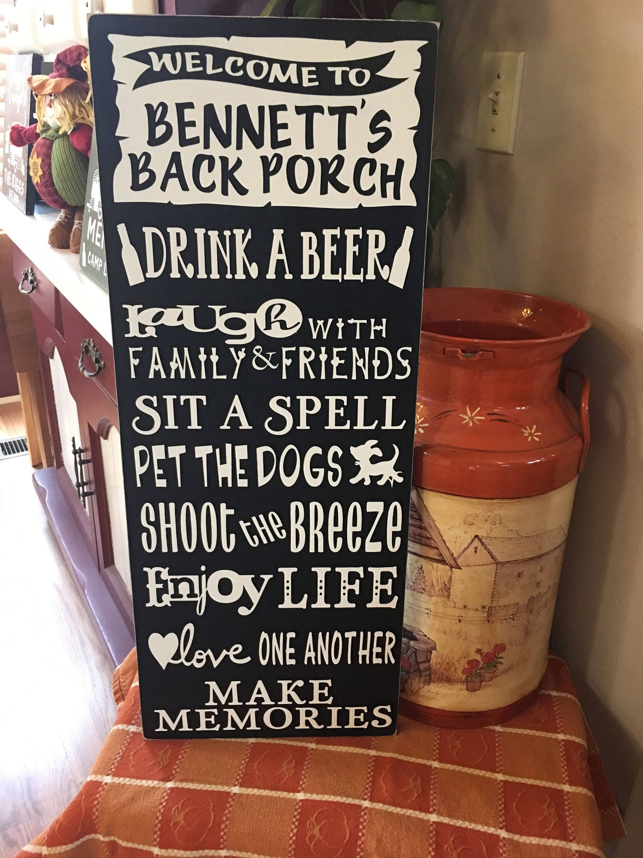 Personalized Backyard Rules Signs Entry Welcome Signs Personalized