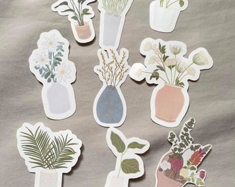 Jars of Clay Collection, Floral Stickers for Bottles, Laptops, Journals, Bibles, and more