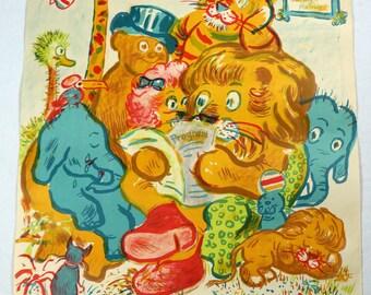 Original Vintage Circus Benneweis Animals Poster