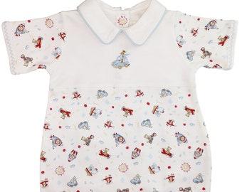 Baby boy Pima cotton romper. Baby gift. Baby shower gift