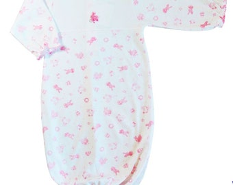 Easter bunny baby girl daygown, Take me home baby girl gown, Newborn only