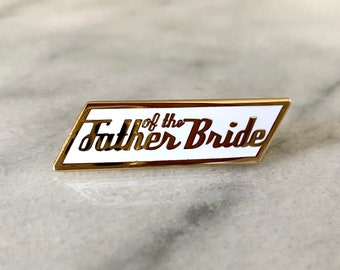 Father of the Bride Gift Wedding Lapel Pin