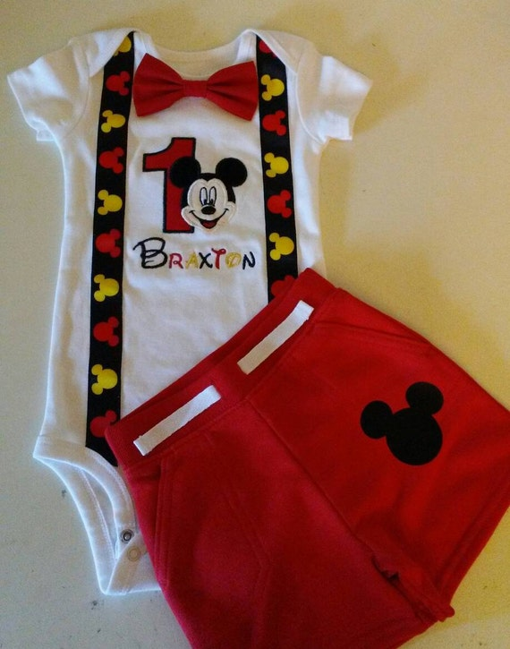 Mickey Mouse 1st Birthday Outfit.Mickey Mouse 1st Birthday Outfit