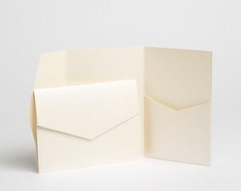 Ivory Pocketfold wedding invitation