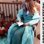 Princess Dress Blanket, green, Crochet Pattern, Digital Download, PDF only, Toddler Child and Adult Sizes
