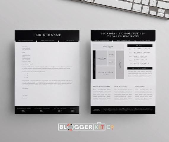 Blog sponsorship proposal letter template ad rate sheet etsy image 0 altavistaventures Images