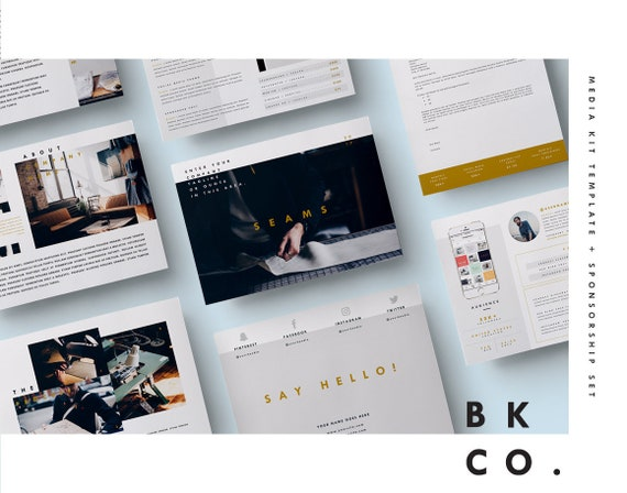 media kit template 8 pages press kit cover letter ad
