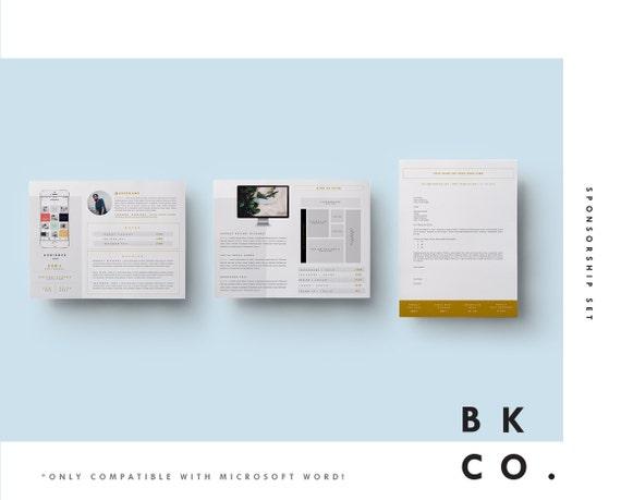 Media Kit Vorlage 8 Seiten Ad Pressemappe Anschreiben | Etsy