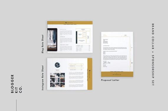 Media Kit Vorlage 9 Seiten Ad Pressemappe Anschreiben | Etsy