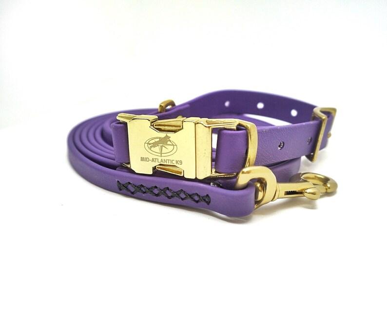 e24f2a9fa219 Purple   Black Matte Biothane QuikR Dog Collar