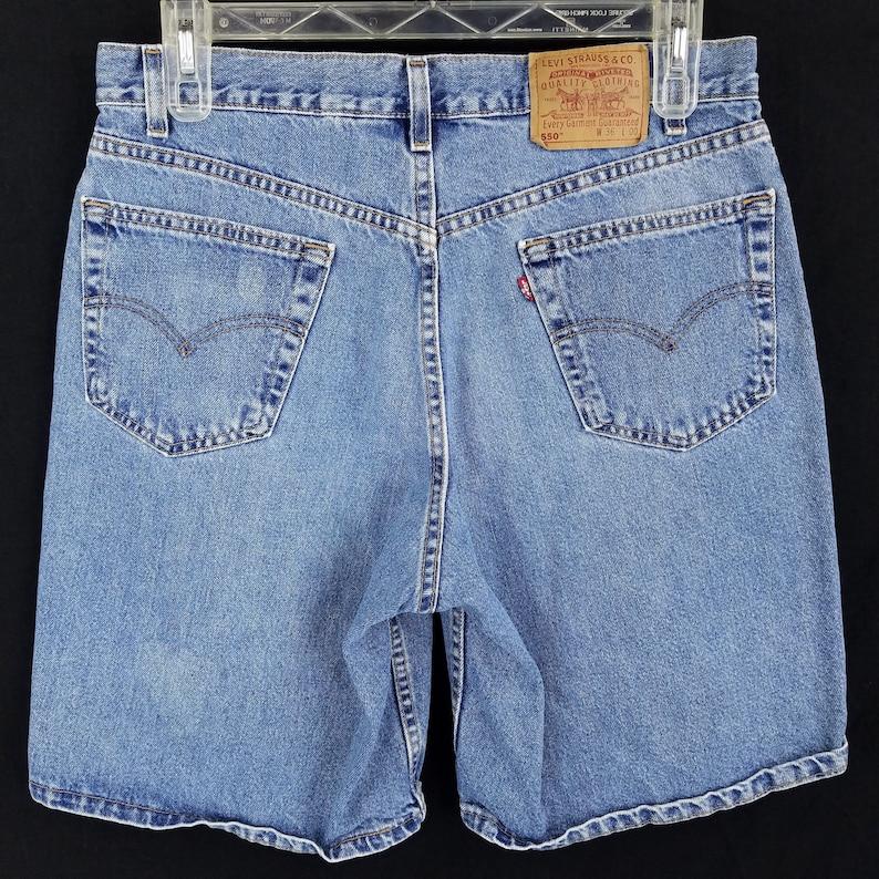 b789ba6bfc Vintage Levis 550 USA Made Denim Jean Shorts Mens Size 33 Tag | Etsy