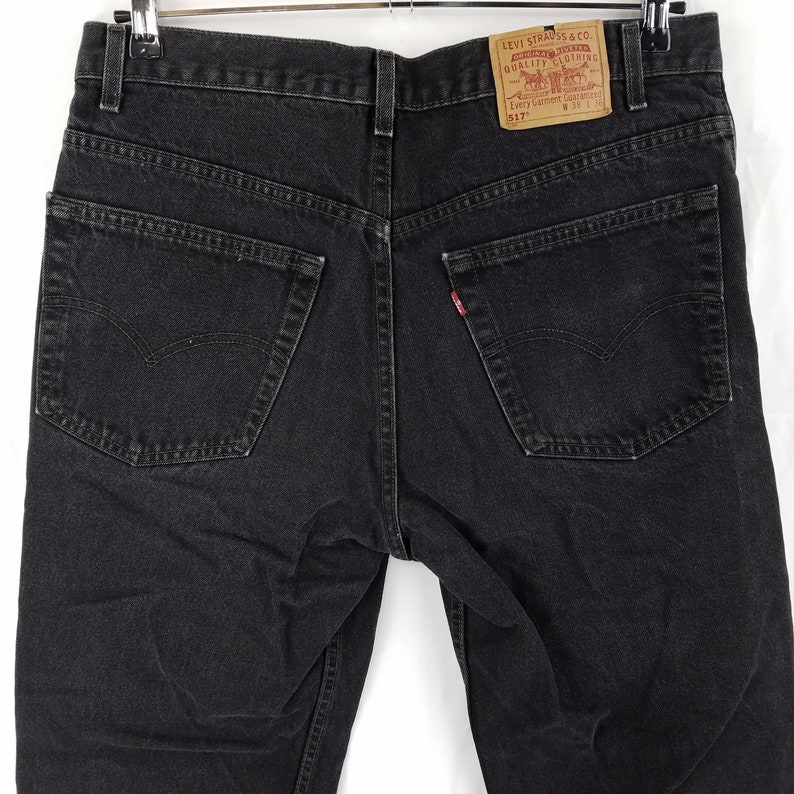 b1d4566c Vintage Levis 517 USA Made Black Bootcut Jeans Mens 35x29 Tag | Etsy