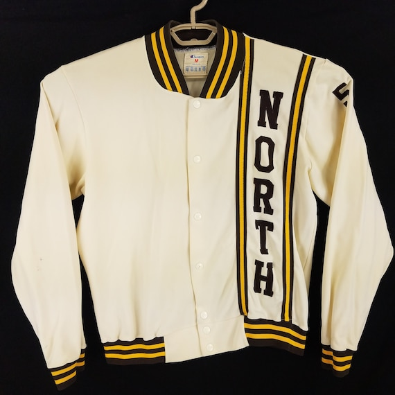 Vintage Champion North #58 Snap Button Varsity Tra