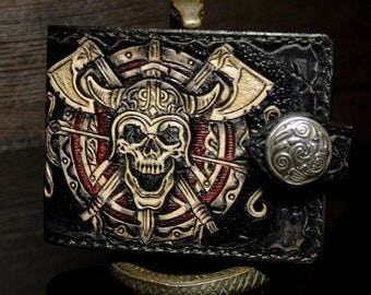 Hand-tooled Viking wallet d2f5a4fdb8