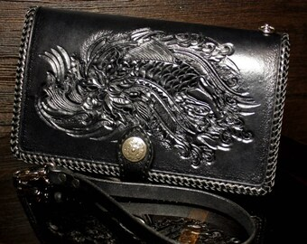 Lotus Moon Women/'s Leather Wallet Tooled