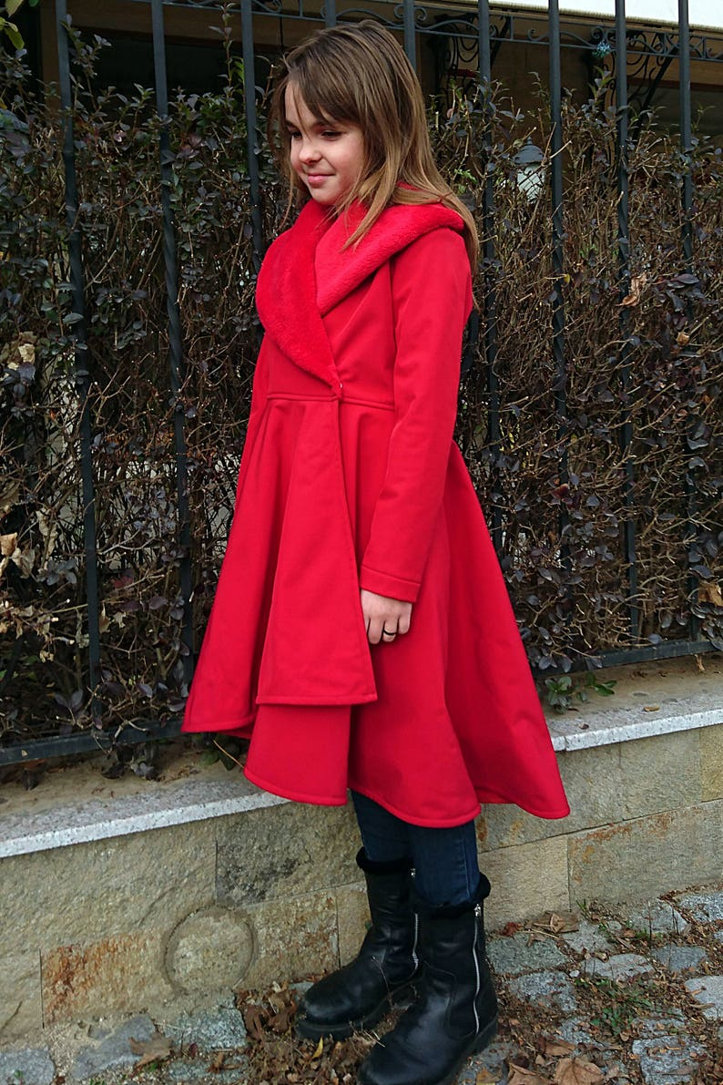 0bc31e9b855a Girls coat Red long winter coat Girls coat jacket Long