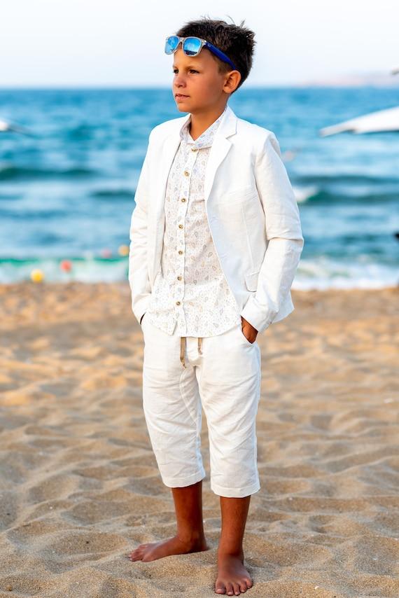 3yrs Garçons été Smart tenue ensemble short bretelles formelle Mariage Fête 0 M