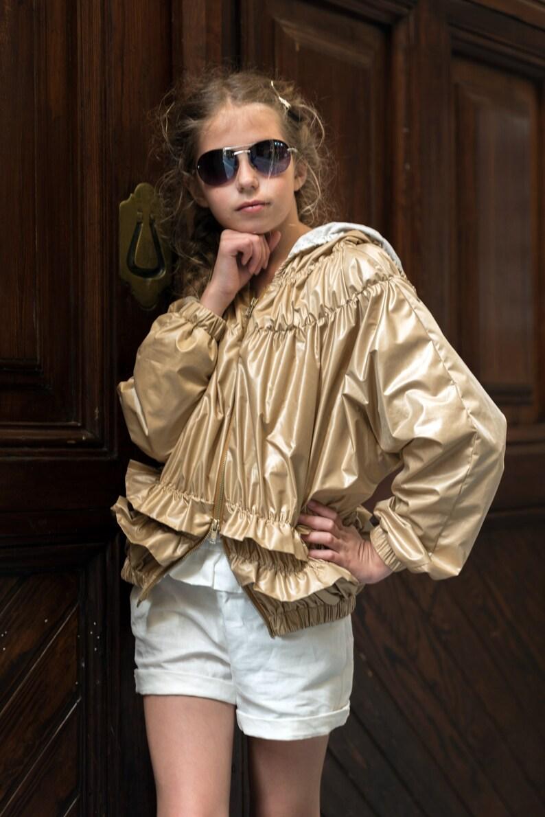 5d4933726 Girls hooded rain jacket  Toddler girl raincoat with hood rain