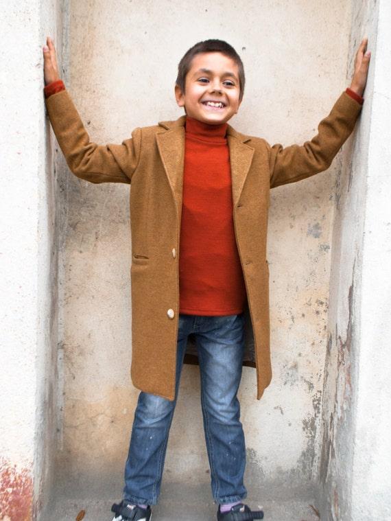 Winter coat Boys wool coat Vintage coat Warm long coat  4a49e5dc5
