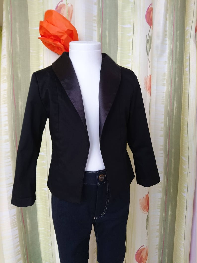 bbfed3f6e82a Black tuxedo suit girls Tailored toddler suit formal dress