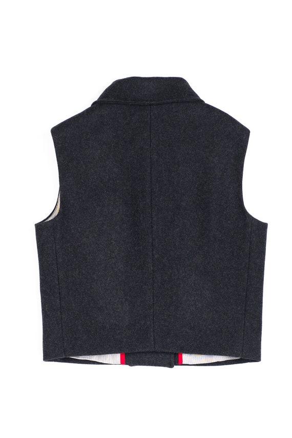info for 938bd 860ab Cappotto di maglia di lana alla moda per ragazze, gilet nero ritagliata,  classico inverno giacca gilet, capospalla invernale alla moda, vestito  freddo ...