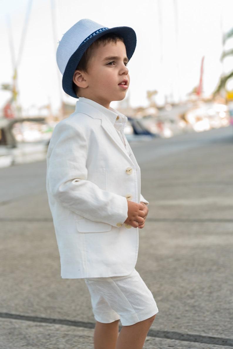 4a0500e4ee47e Boys linen suit summer formal wear kids linen outfit/ | Etsy