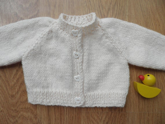 Hand Knitted Baby Cardigan 0-3 months Unisex