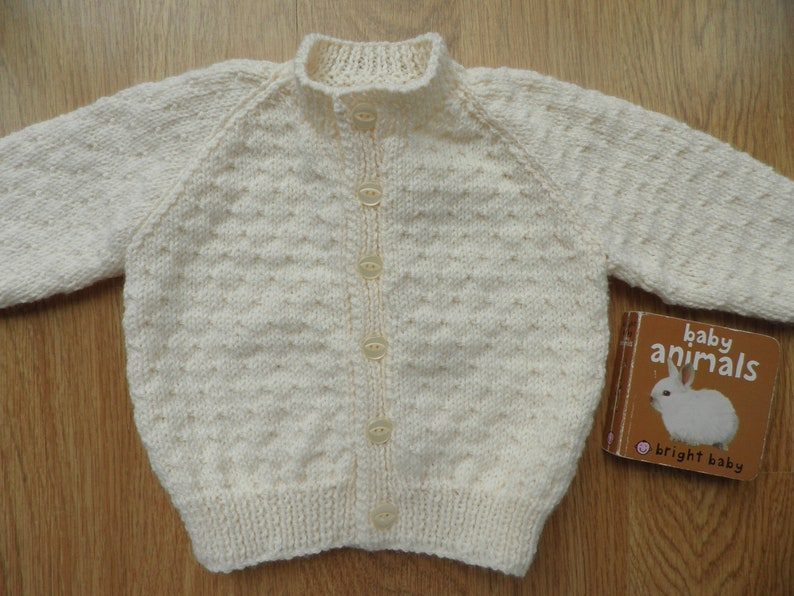 9890adfb4 Cream baby cardigan unisex baby sweater baptism outfit 6 to