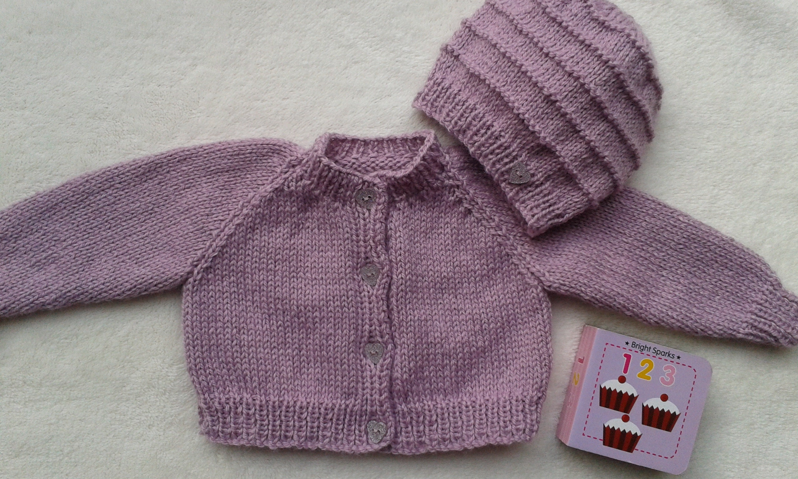 4f4009c8d8cd44 Dusky pink baby sweater and hat baby girl coming home outfit | Etsy