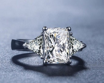 2 Carat Rings-Diamond Simulated Engagement Ring, 2.5 cushion cut Simulated Promise Ring, Promise Ring For Women, Custom Made Ring