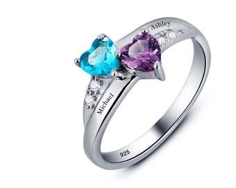 Name Ring Jewelry, Personalized Promise Ring, Engraved Name Ring,#familyengravednamering #PersonalizedJewellery, #lenamayjewellery