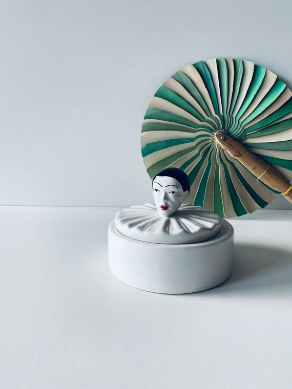 Vintage ceramic pierrot box