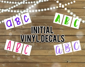 Initial Vinyl Decal-2 Inches Tall