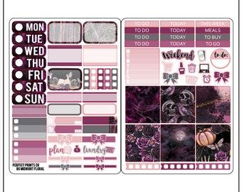 Midnight Floral B6 Sticker Kit