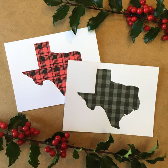 Texas Christmas Cards.Texas Christmas Cards Southern Christmas Texas Home Decor State Of Texas Christmas Cards Texas Plaid Texas Christmas Made In Texas