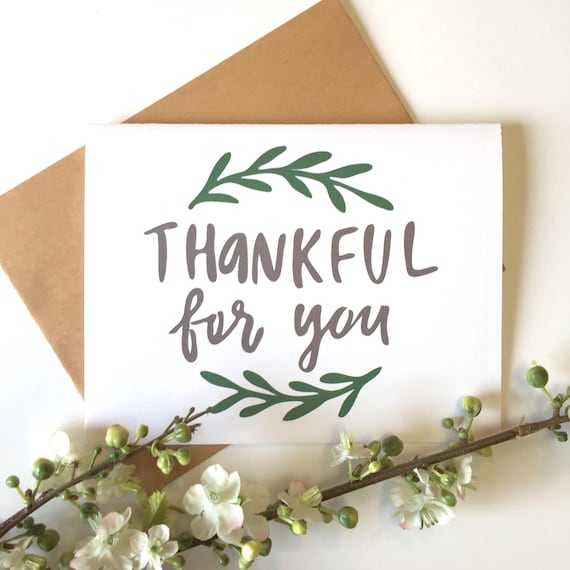 thankful for you cards thankful for you gifts thankful card etsy