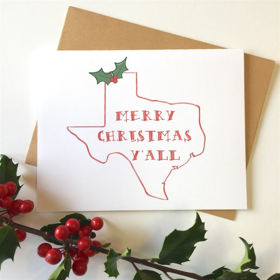 Texas Christmas Cards.Texas Christmas Texas Christmas Cards Texas Christmas Gift Texas Decor Texas Holidays Texas Gifts Texas Y All State Christmas Texas