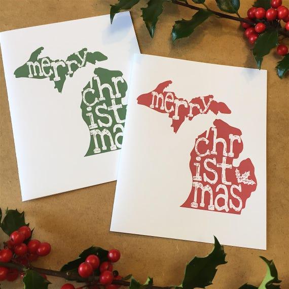 Christmas card michigan michigan present michigan christmas etsy image 0 m4hsunfo